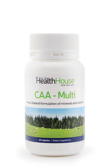 Enjoy excellent health with CAA-Multi - the most effective multi-mineral-vitamin