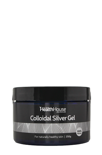 Colloidal Silver in a clear gel formulation in an economic tub.