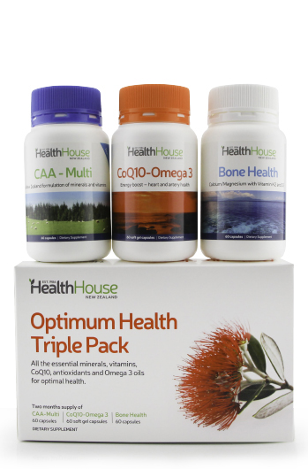 Contains two months supply of all your basic nutritional needs.