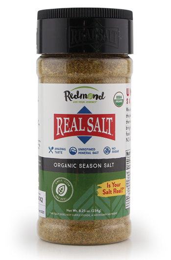 Mineral rich, pure sea salt from Utah with added seasoning.